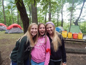 3 girls and their summer story at Camp Friedenswald