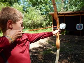 Archery at a Michigan camp
