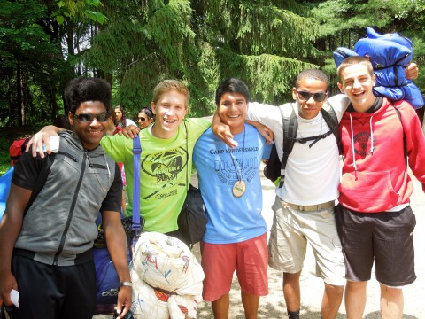 High school campers at Camp Friedenswald