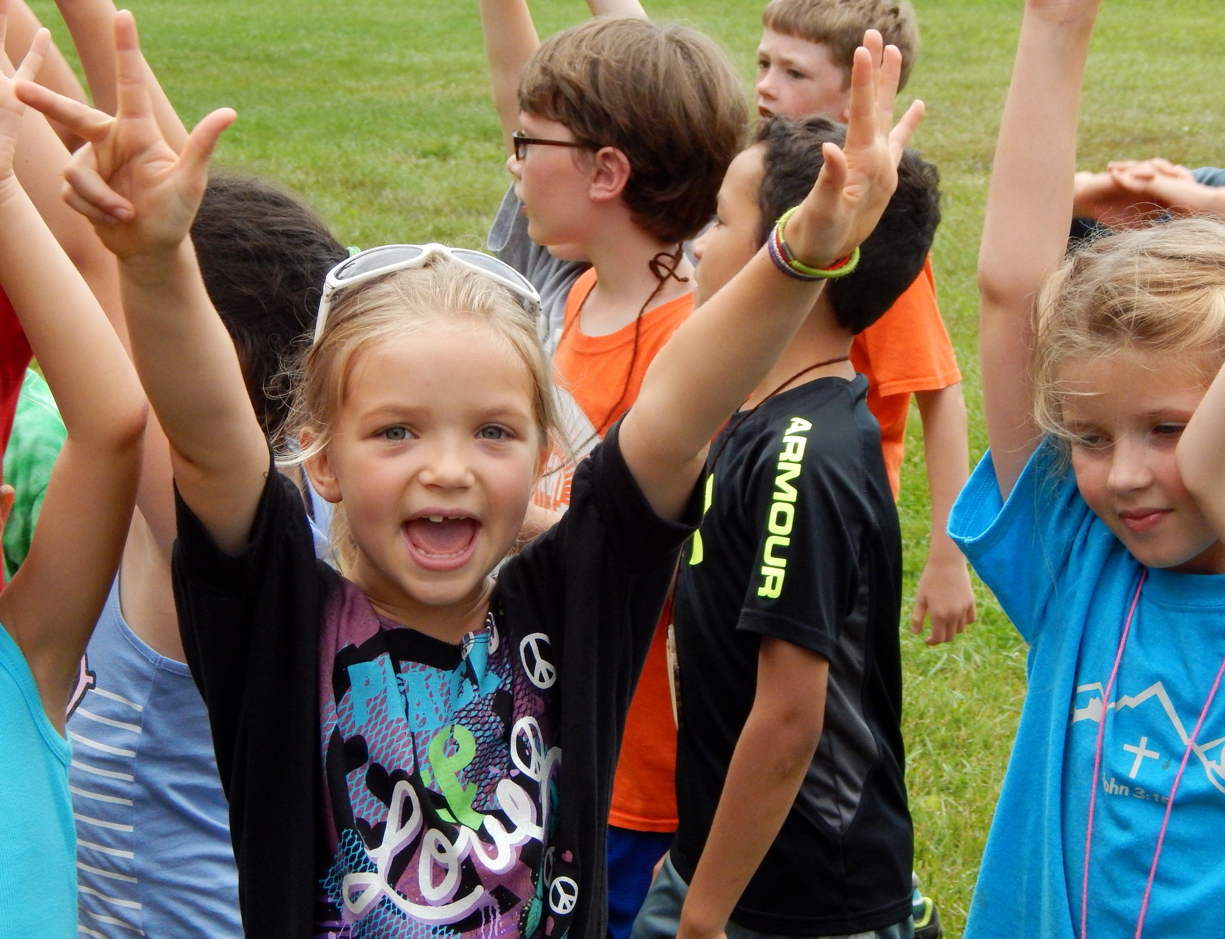 Summer campers having a great time at Camp Friedenswald