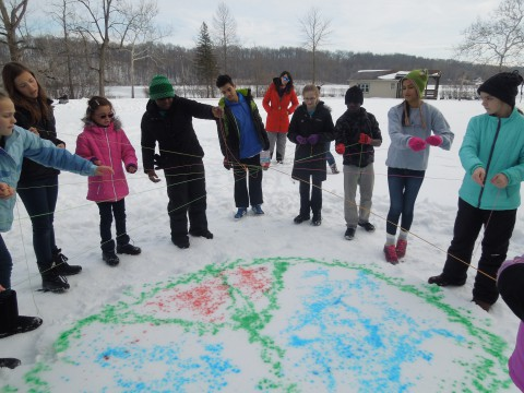 Junior High Winter Retreat fun at Camp Friedenswald