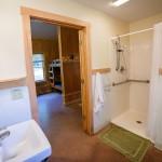 Modern Cabin bathroom shower at Camp Friedenswald