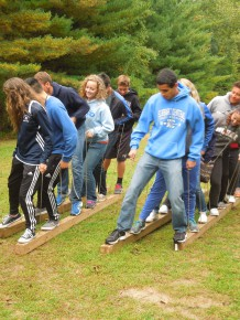 Team Building Activity at Camp Friedenswald