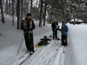 Cross Country ski family at Camp Friedenswald