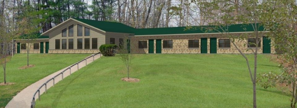 Guest House renovations including new common gathering area at Camp Friedenswald