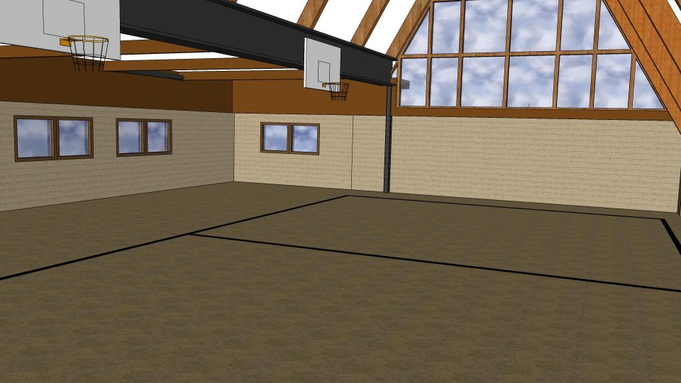 activity center/gymnasium at Camp Friedenswald after renovations