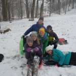Youth at Winter Camp after sledding