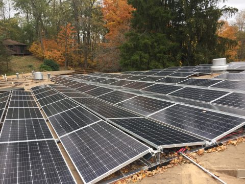 Solar panels at Camp Friedenswald.